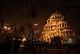 Зимна вечер в центъра на София